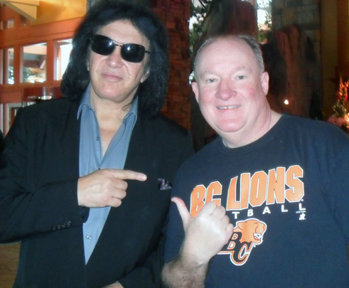 Verne with Gene Simmons of KISS!