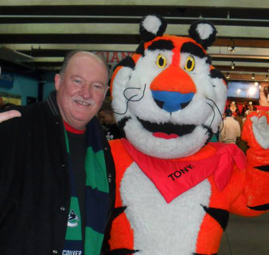 Verne with Tony the Tiger
