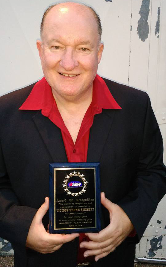 Vicious Verne Siebert - Award of Recognition